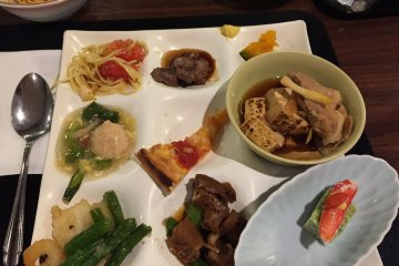 Dinner buffet selection