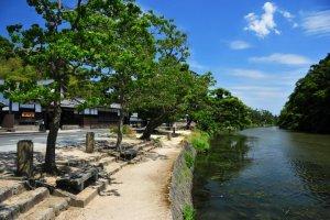 The waterways around Matsue city