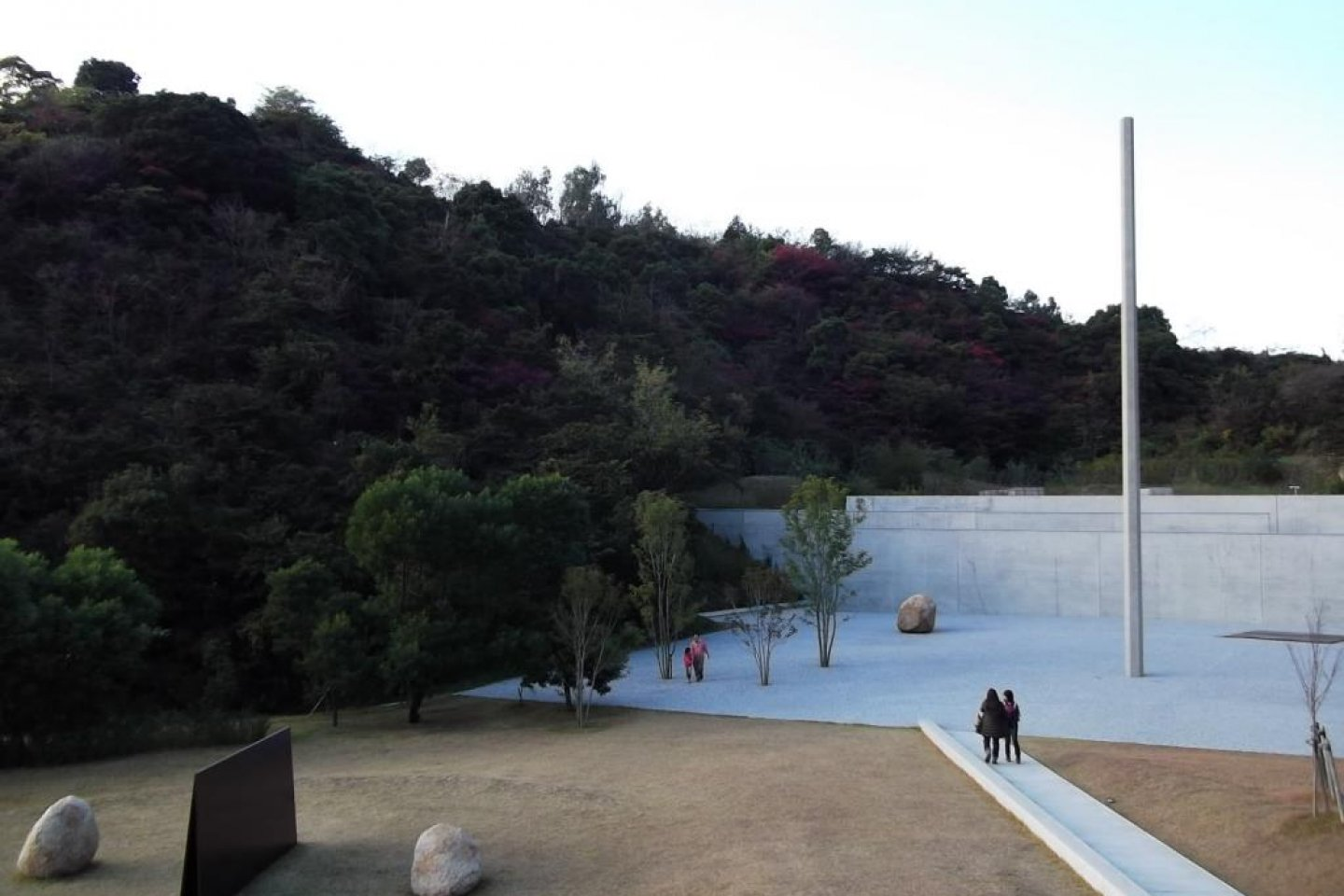 The view down the slope to the museum