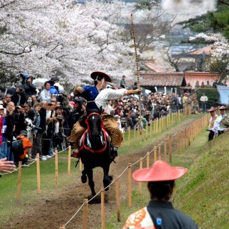 Ябусамэ - конная стрельба в Цувано
