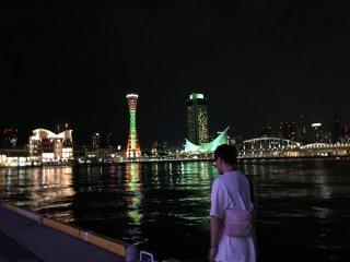 Вид с набережной на Башню порта Кобэ