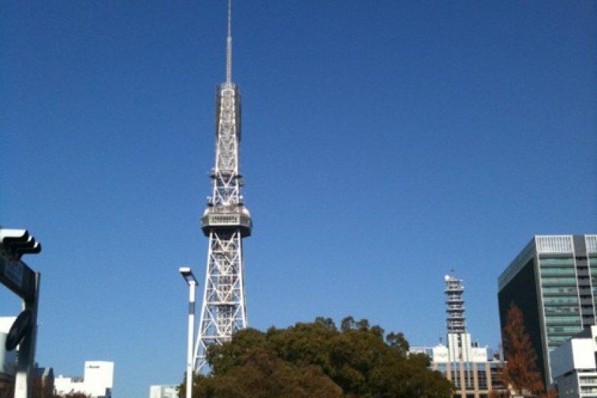 Standing tall over Hisaya Odori Central Park...