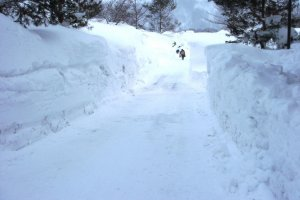 The snow is piling up high in this part of Yamagata