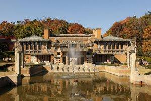 The Frank Lloyd Wright designed Imperial Hotel