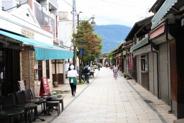 Nawate Street is a narrow stretch with shops lining its side