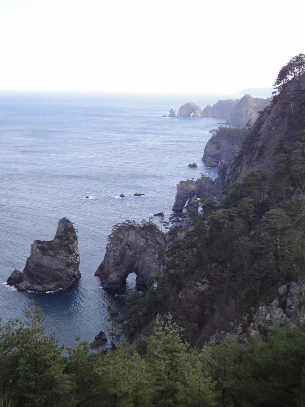 View from the top of Kitayamazaki