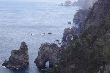 Vách đá Kitayamazaki - Bờ biển Rikuchu