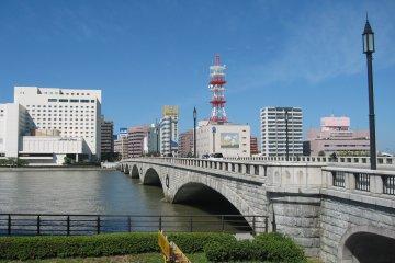 Bandai Bridge near to Pier Bandai