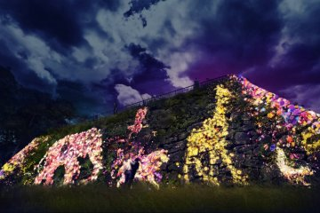 งานเทศกาลแห่งแสงสีที่ซากปราสาทฟุกุโอะกะ
