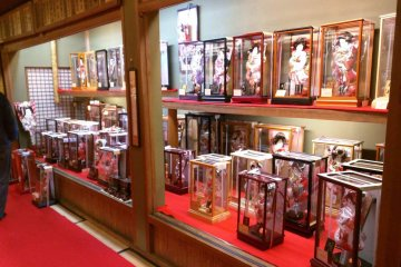 The Doll History Museum showroom displays boys' and girls' day dolls