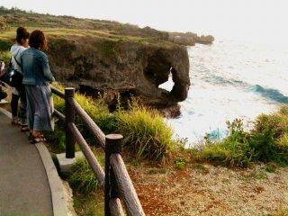 Beautiful Level Walkway at Cape Manza Onna Son Okinawa