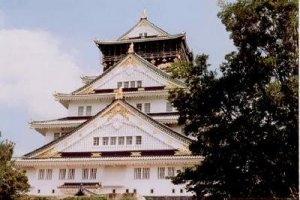 Vintage-looking Osaka Castle