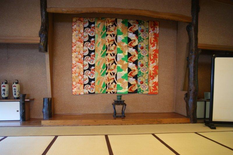 The zashiki in the upper floor of Matsushita, where the maiko meet the customers