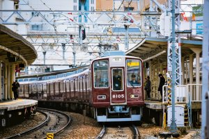 Juso Station is around 5 mins from Umeda on the Hankyu line