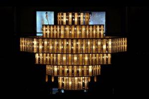 Beautiful Art Deco Chandeliers at Imperial Hotel at Hibiya Park Tokyo