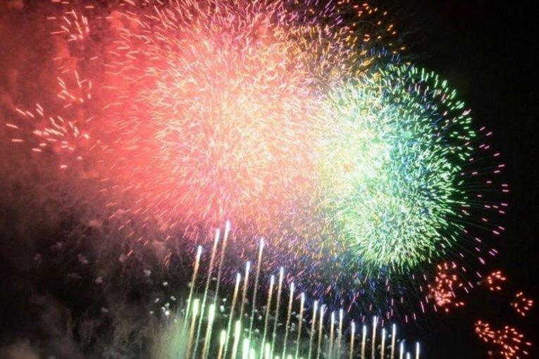 Festival de fuegos artificiales en Yodogawa