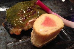 yomogi vegetable seasoned fish (starter)