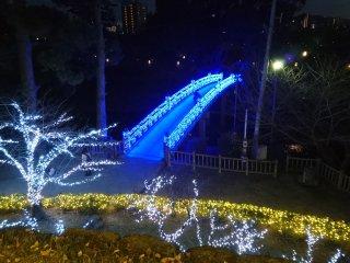 Jembatan di Taman Okazaki