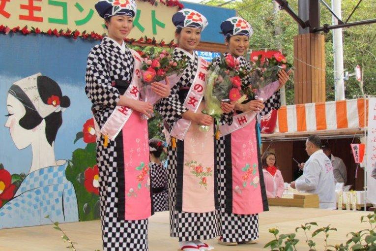 เทศกาล Izu Oshima Tsubaki Matsuri