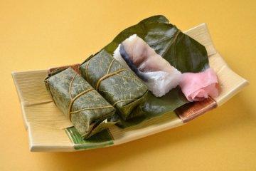 ซูชิที่ไม่ธรรมดา 'Kakinoha-zushi'