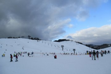 A view of the skiers