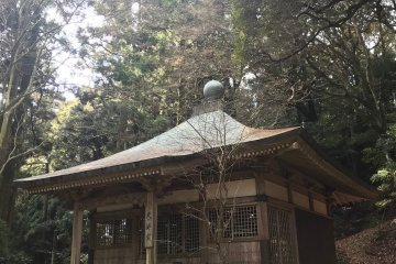 Shrine located behind the temple