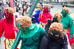 Oni Fest on Mt. Yoshino, Nara