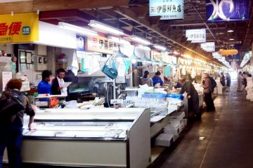 The fish markets are abuzz with activity even at mid morning