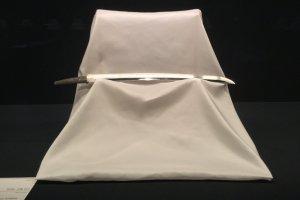 A wakizashi short sword