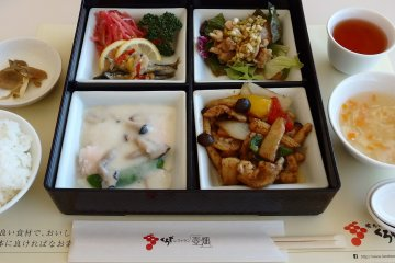 The 'tokusei' lunch set during my visit