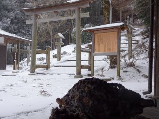 In front of Kinpu Shrine, beyond here is only forest