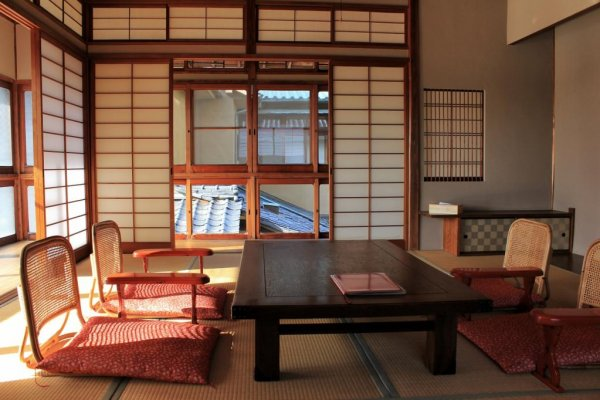 One of the upstairs rooms at Dougoya
