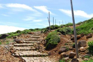 Hiking trail on Mount Zao.