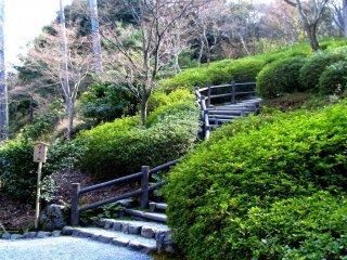 Existem muitos jardins imaculados para passear perto da estação de Arashiyama
