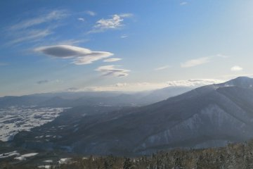 Lenticular clouds around Mt. Iwate