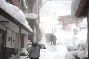 O Zao Onsen é um popular resort de esqui onde podemos desfrutar de um quente banho no onsen depois de um dia nas rampas