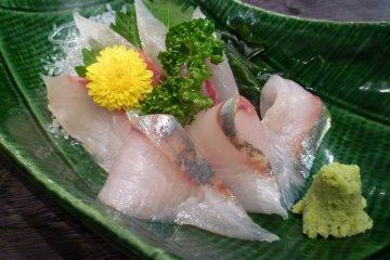 Only the freshest of sashimi...