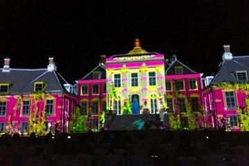 Видеомаппинг на дворце