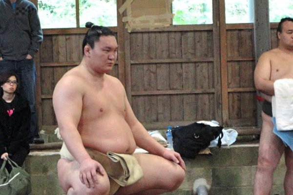 A once-in-a-lifetime chance to watch Hakuho train
