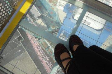 Looking down. WHOA!