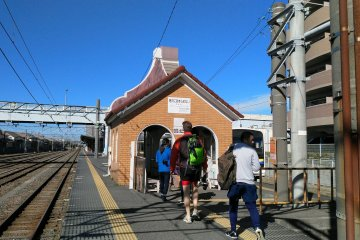 The train stops or starts at Choshi Station, where you can connect to a JR line