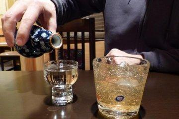 Japanese sake and fruit wine