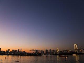 Вид на токийский залив Одайбы, по моему мнению, лучший вид на город