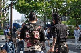 Vũ công nhạc đồng quê ở công viên Yoyogi