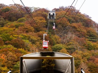 The Akechidaira Ropeway: getting ready to board
