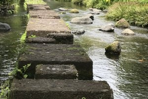 Genbe River and stepping stones