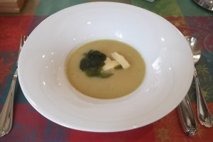 Creamy leek potage