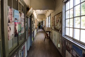 Corridor with movie posters
