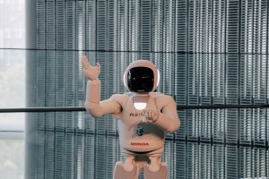 ASIMO gives a demonstration which includes singing!