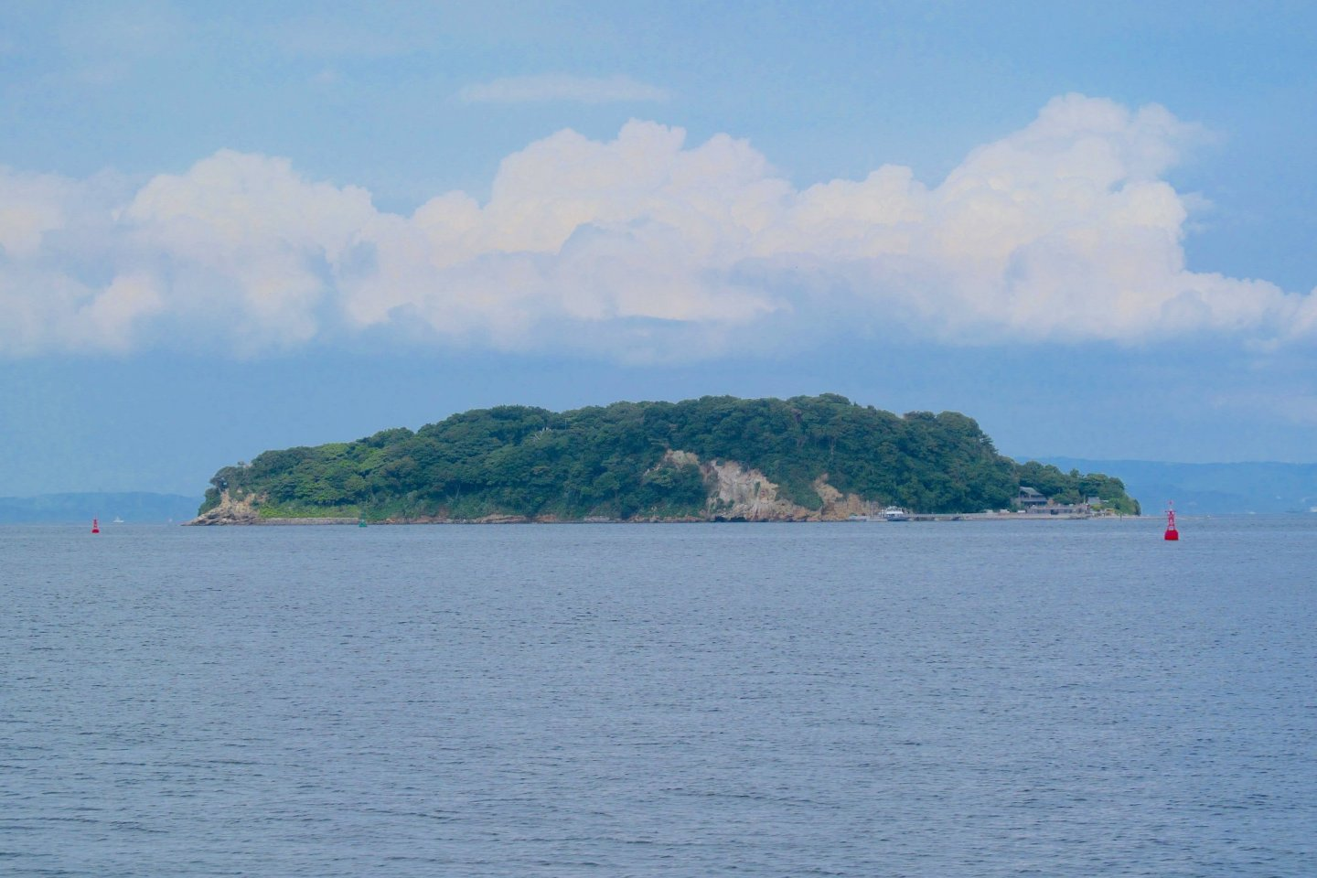 View of Sarushima from the ferry